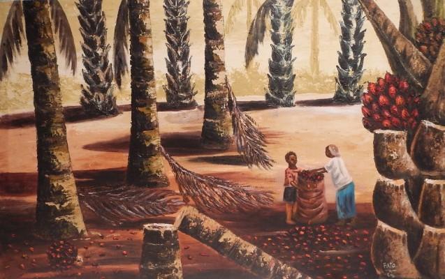 Palm Farm, 50 x 85, 250€