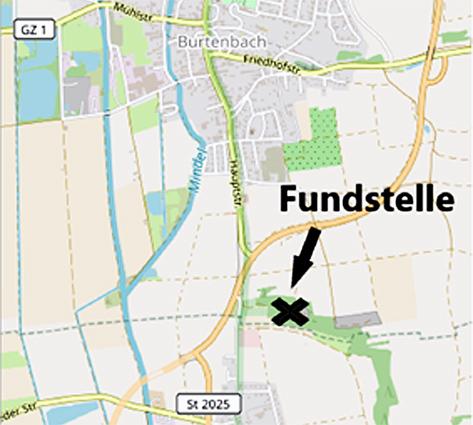 Abb. 1: Geographische Lage der Fundstelle ...