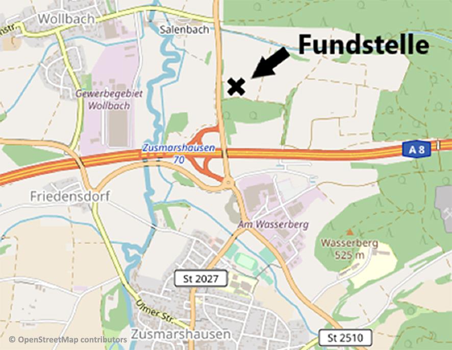Abb. 1: Geographische Lage der Fundstelle.
