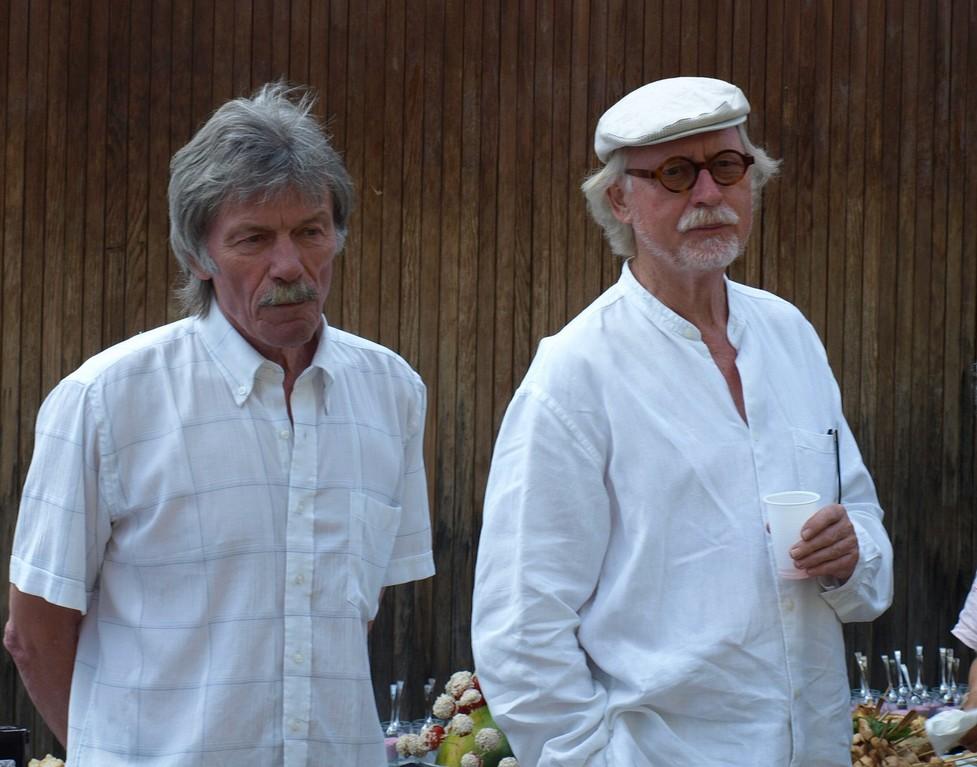 gerhard Senn à gauche