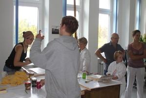 Freskenherstellung bei den Ateliertagen (3./4.9.2011)