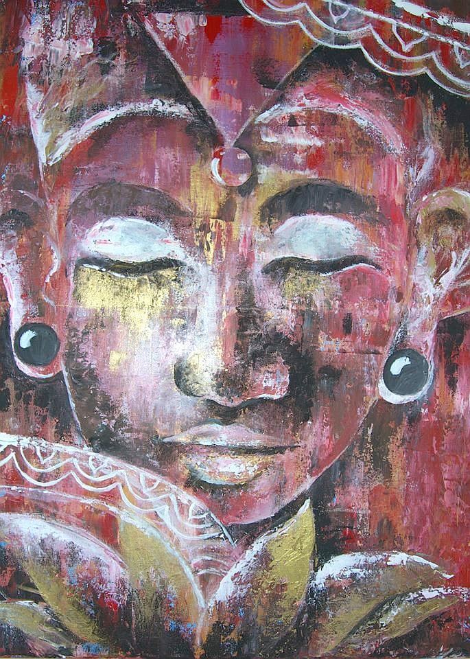 Der junge Buddha /  80 H x 80 B7 VERKAUFT