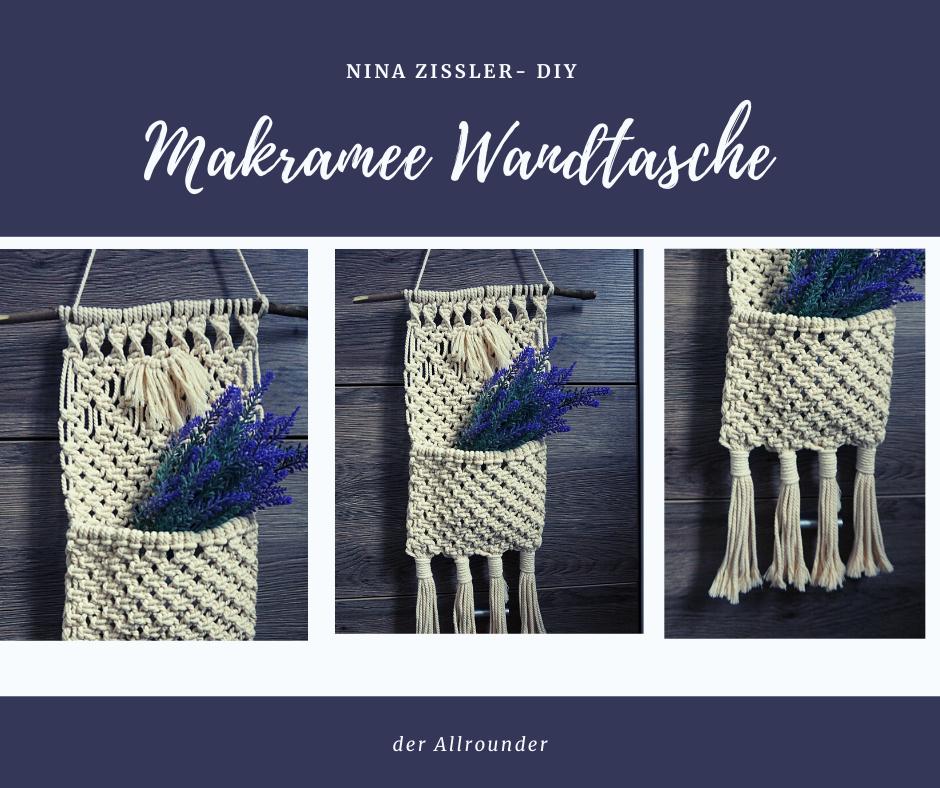 Makramee Wandtasche