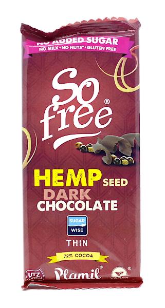 Hanf - Schokolade 72 % ohne Zucker (Plamil)