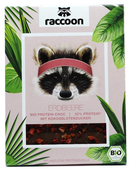 Erdbeere Bio Protein Choc (Raccoon)