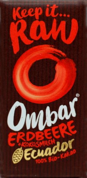 Erdbeere & Kokosmilch Schokoladentäfelchen (Ombar)