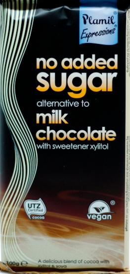 """""""Milch""""-Schokolade ohne Zucker (Plamil)"""