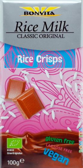 Reismilch-Schokolade mit Reis-Crisps (Bonvita)