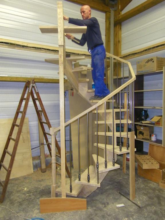 Conception d'un escalier élicoïdal en bois