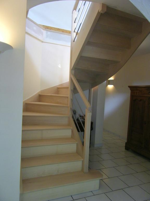 escalier en hètre rampe sûr rampe