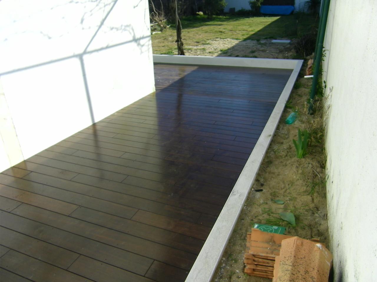 Terrasse bamboo huilée