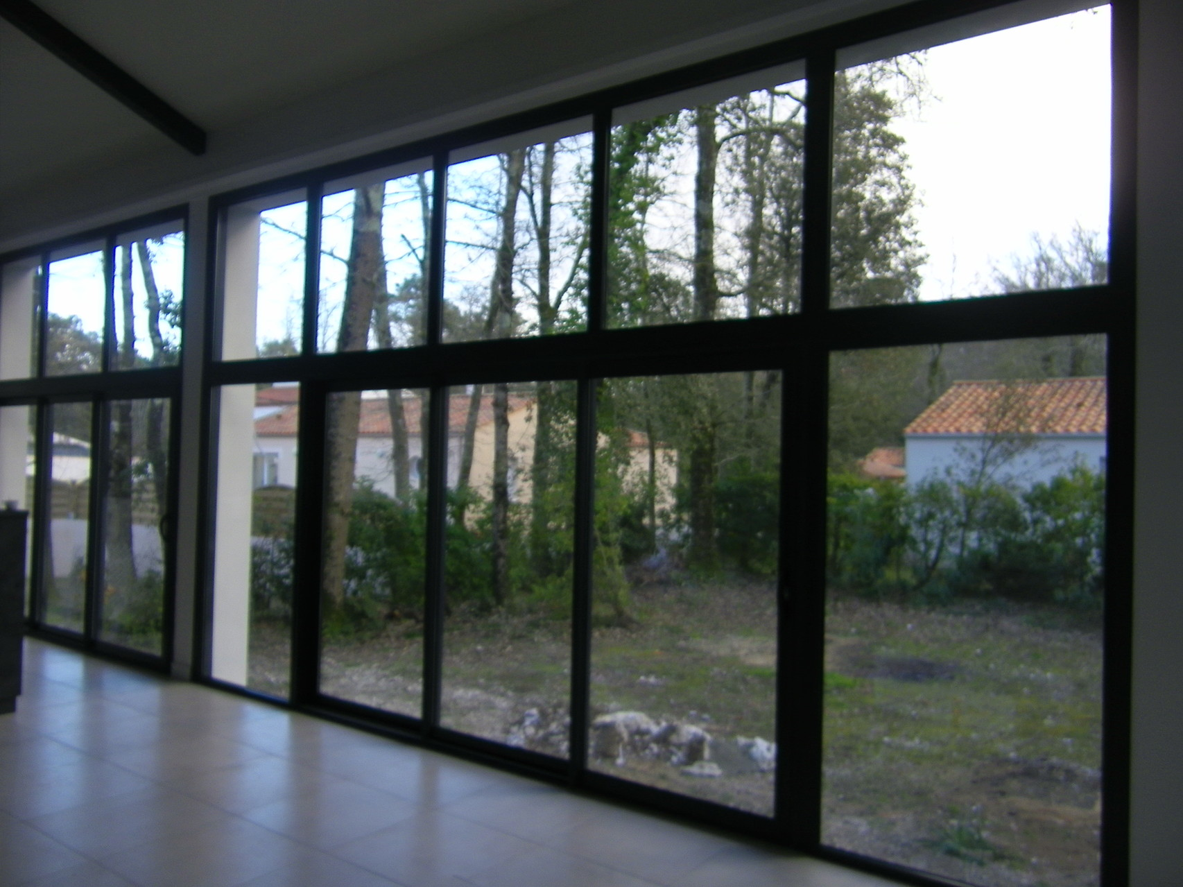 Vue intérieur baie vitrée