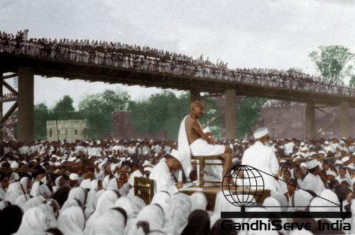 15 - Mahatma Gandhi (Ghandi) - Copyright: GandhiServe India - www.gandhiserveindia.org