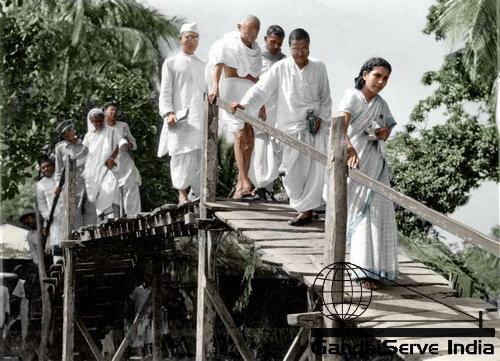 86 - Mahatma Gandhi (Ghandi) - Copyright: GandhiServe India - www.gandhiserveindia.org