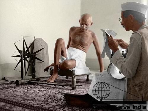72 - Mahatma Gandhi (Ghandi) - Copyright: GandhiServe India - www.gandhiserveindia.org