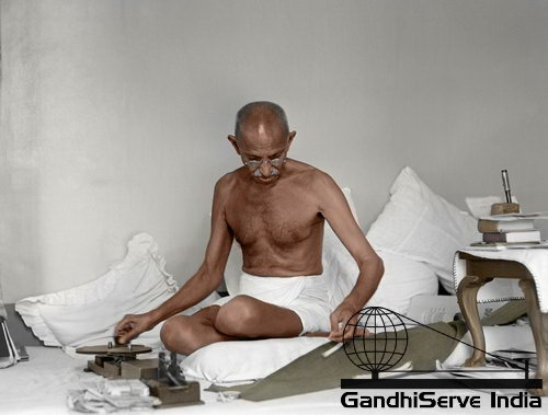 47 - Mahatma Gandhi (Ghandi) - Copyright: GandhiServe India - www.gandhiserveindia.org