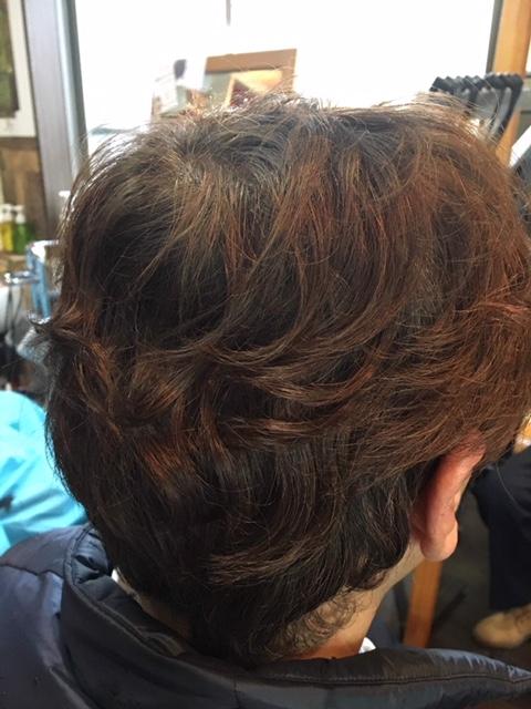 波状毛です。