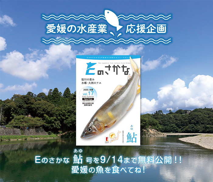 【愛媛の水産業応援企画】Eのさかな 鮎(あゆ)各号を9/14まで無料公開!!愛媛の魚を食べてね!
