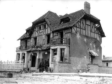 The 1st House liberated at Bernières sur mer in Juno sector