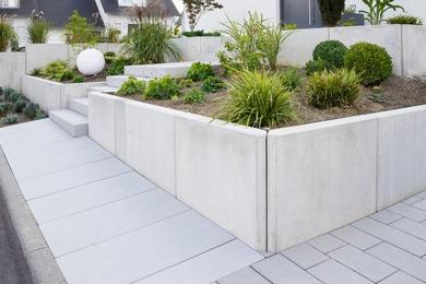 Gartengestaltung, Mauersteine, Treppen, Gartendesign