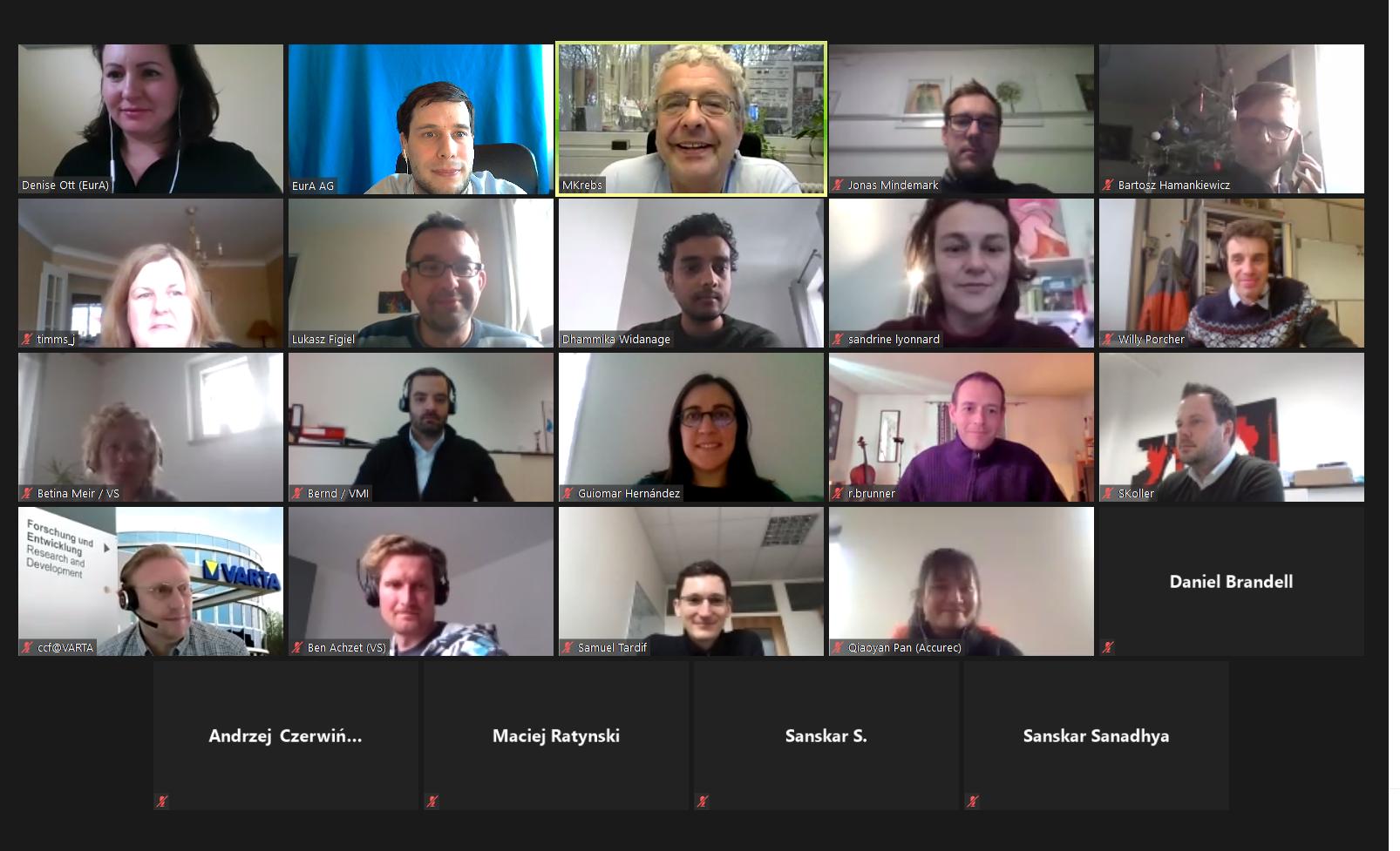 Virtual M12 Meeting and IAB Kick-off Meeting
