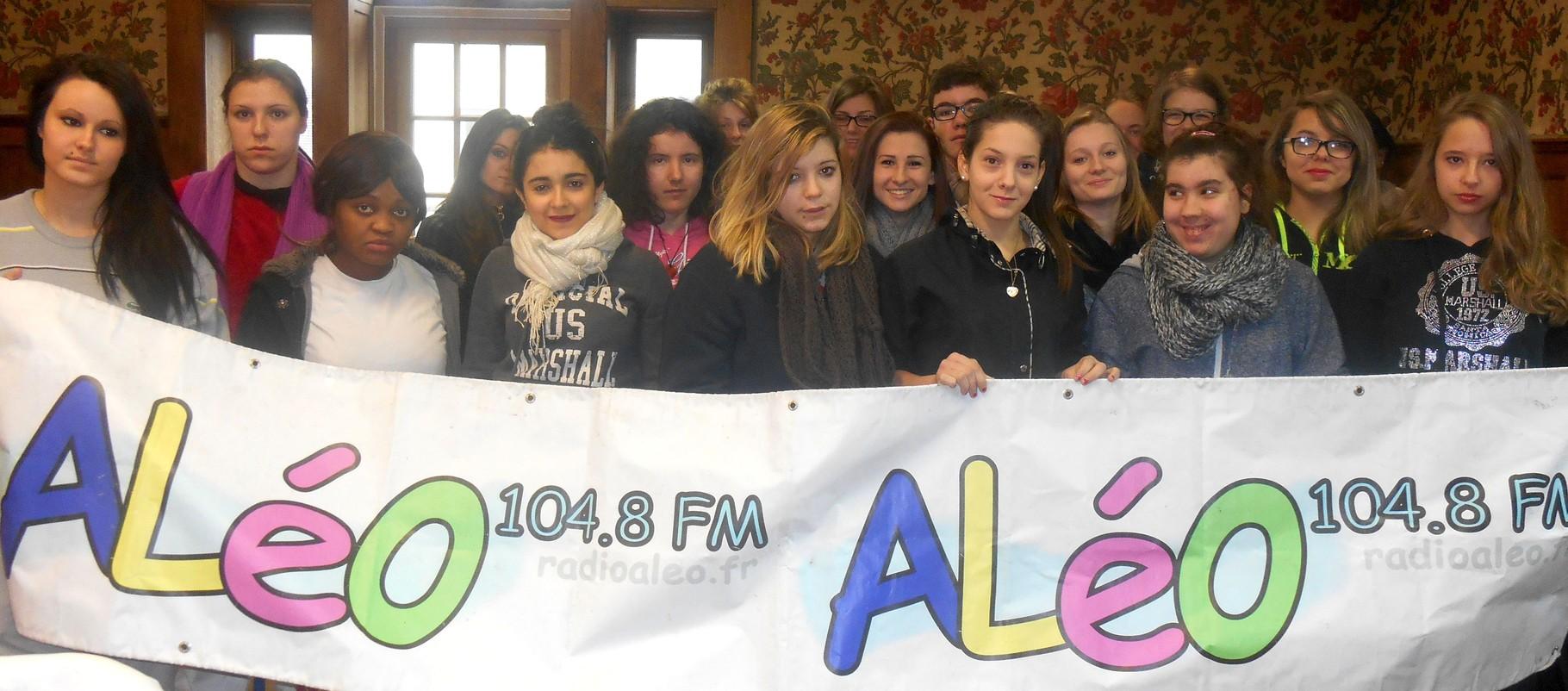 Février 2015, petit clin d'oeil de la part des élèves de la MFR de Charentay :)
