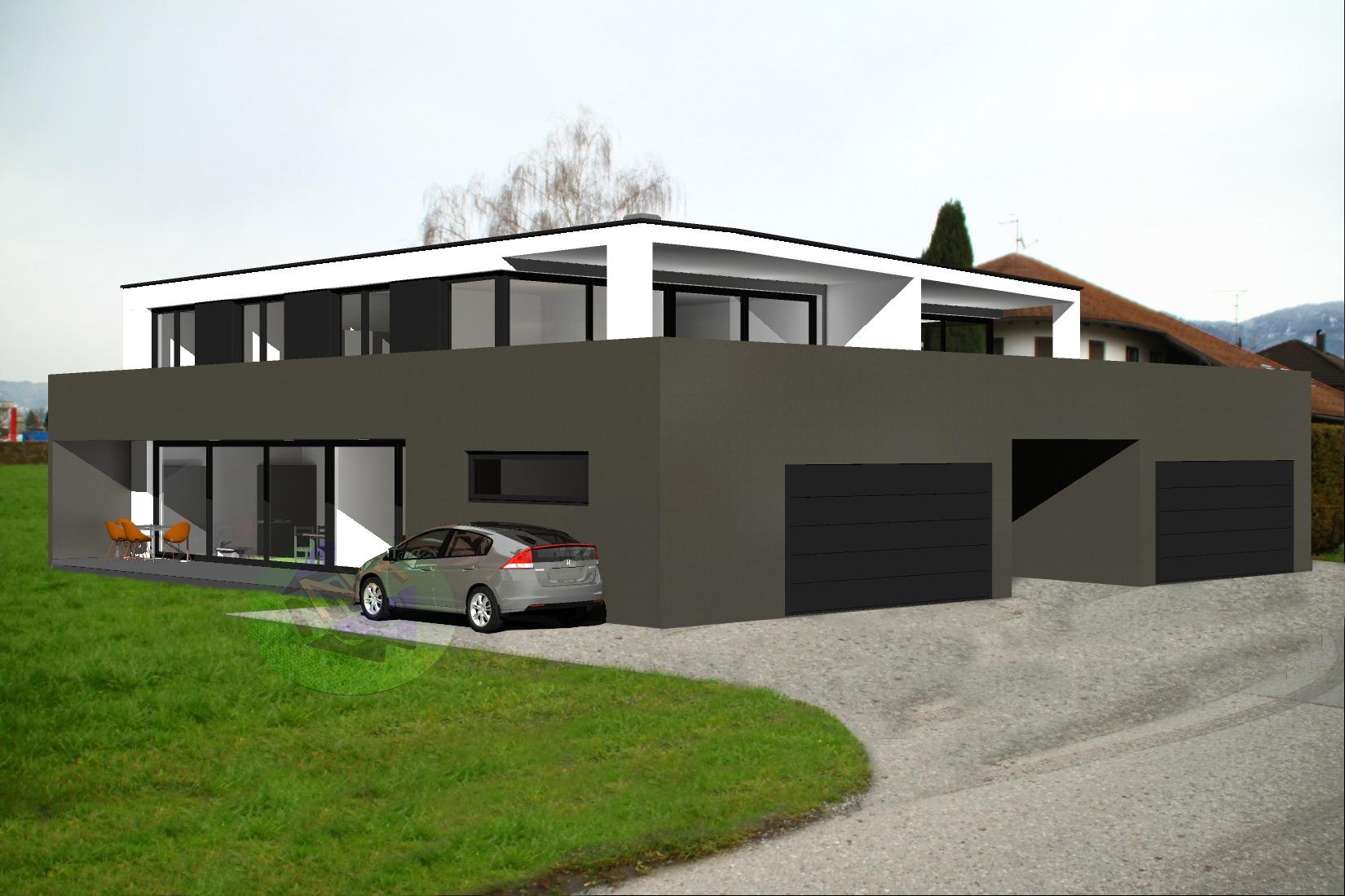 Konzept Doppelhaus D1.