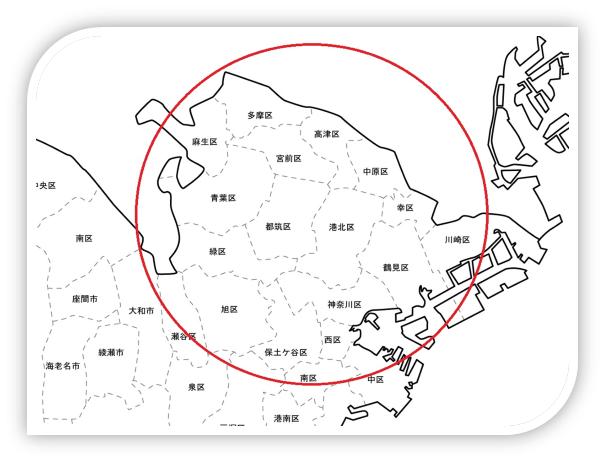 コンビニ配送 ルート配送範囲 地図