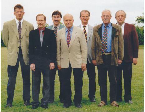 SR Auschuss 2000: von links: Michael Ulm, Lothar Müller, Helmut Fischer, Walter Fetzer, Anton Gut, Siegmar Straub, Jakob Ulm