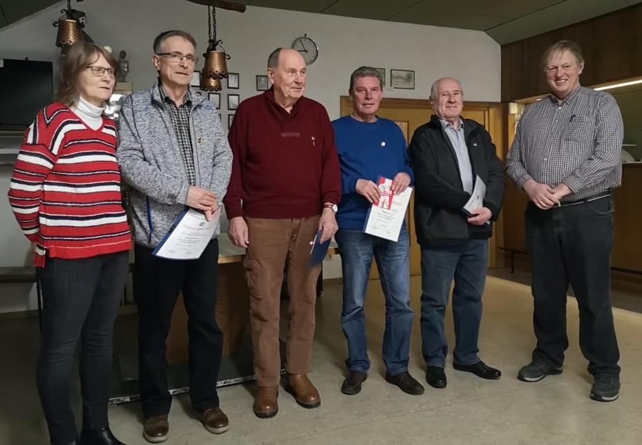 Von links nach rechts: Brigitte Ambrosius Ruggia, Jürgen Ambrosius, Manfred Röth, Werner Hardt, Alexander Forell, Olaf Zipp