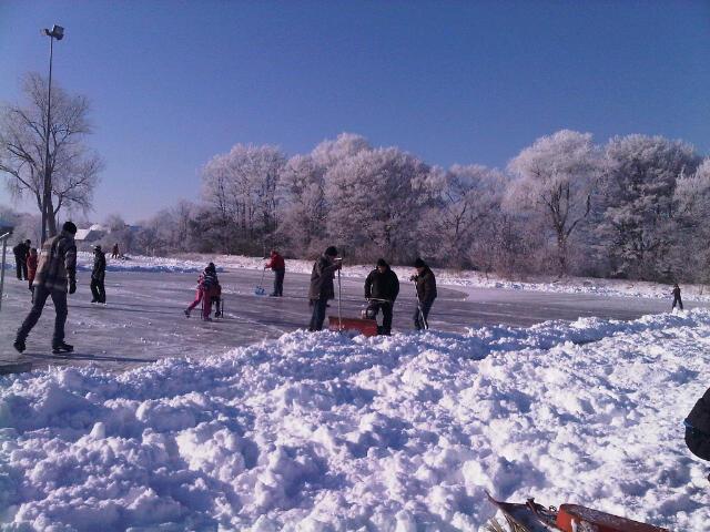 Zaterdag 4 februari 2012, de tweede schaatsdag op onze nieuwe ijsbaan!