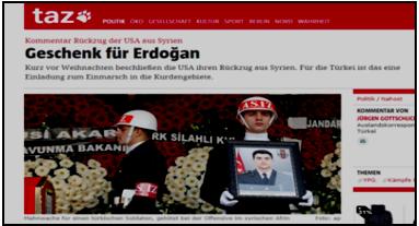 (titolo: Commento al ritiro Usa dalla Siria: REGALO PER ERDOGAN)