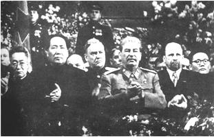 Mao Zedong und Stalin