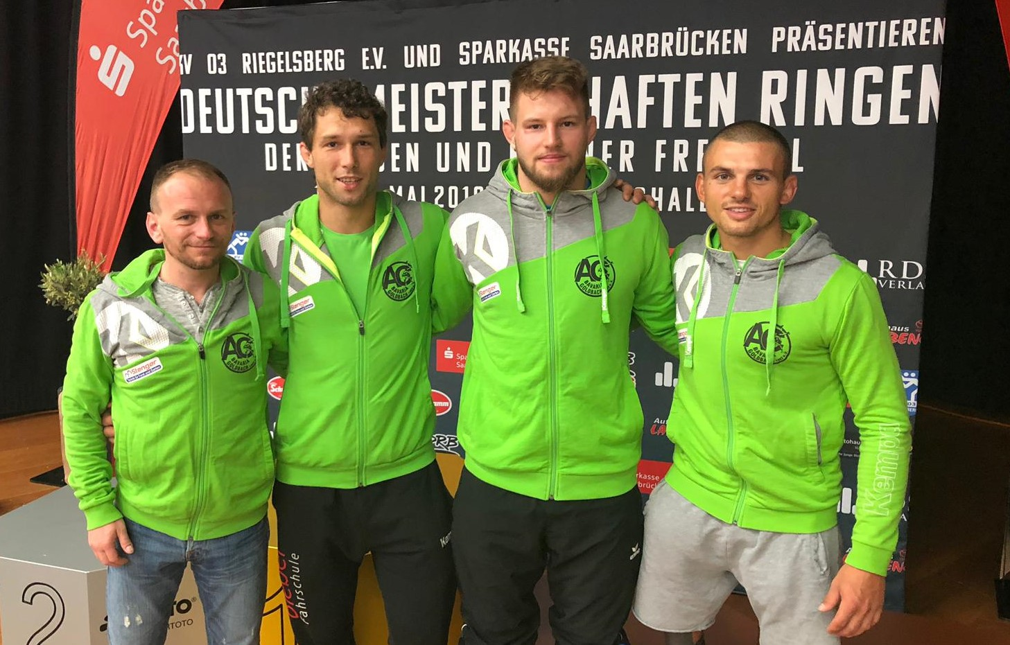 v.l. sportlicher Leiter: Markus Fisch, Michael Heeg, Johannes Deml, Simon Hüttner
