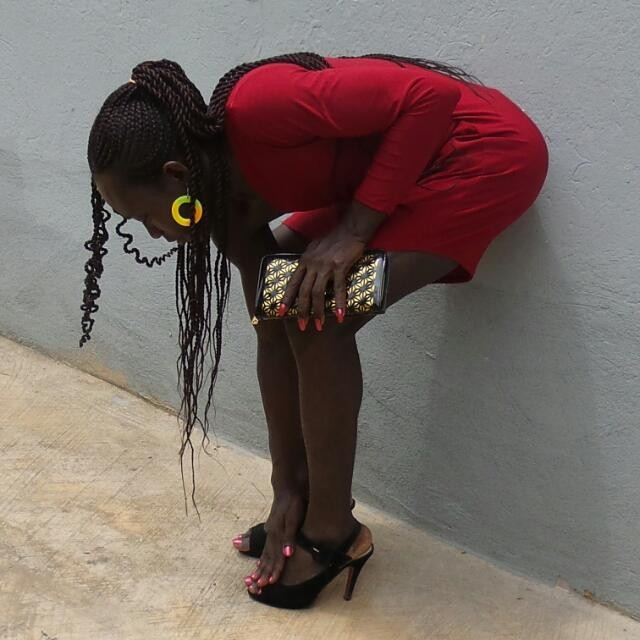 Lady in REd, 2015, KNUST, Ghana