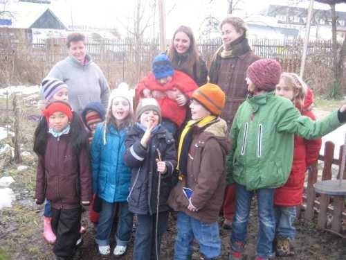 Bei einem Treffen unserer Kindergruppe im Tiergarten, Februar 2010