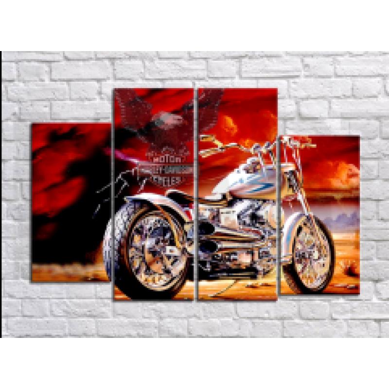 "Модульная картина-раскраска по номерам ""Мотоцикл"" - Арт-хобби"