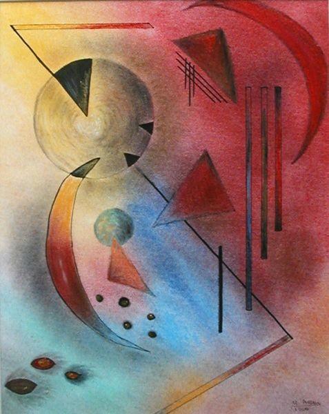 """""""Hommage an Kandinsky"""", Pastell"""