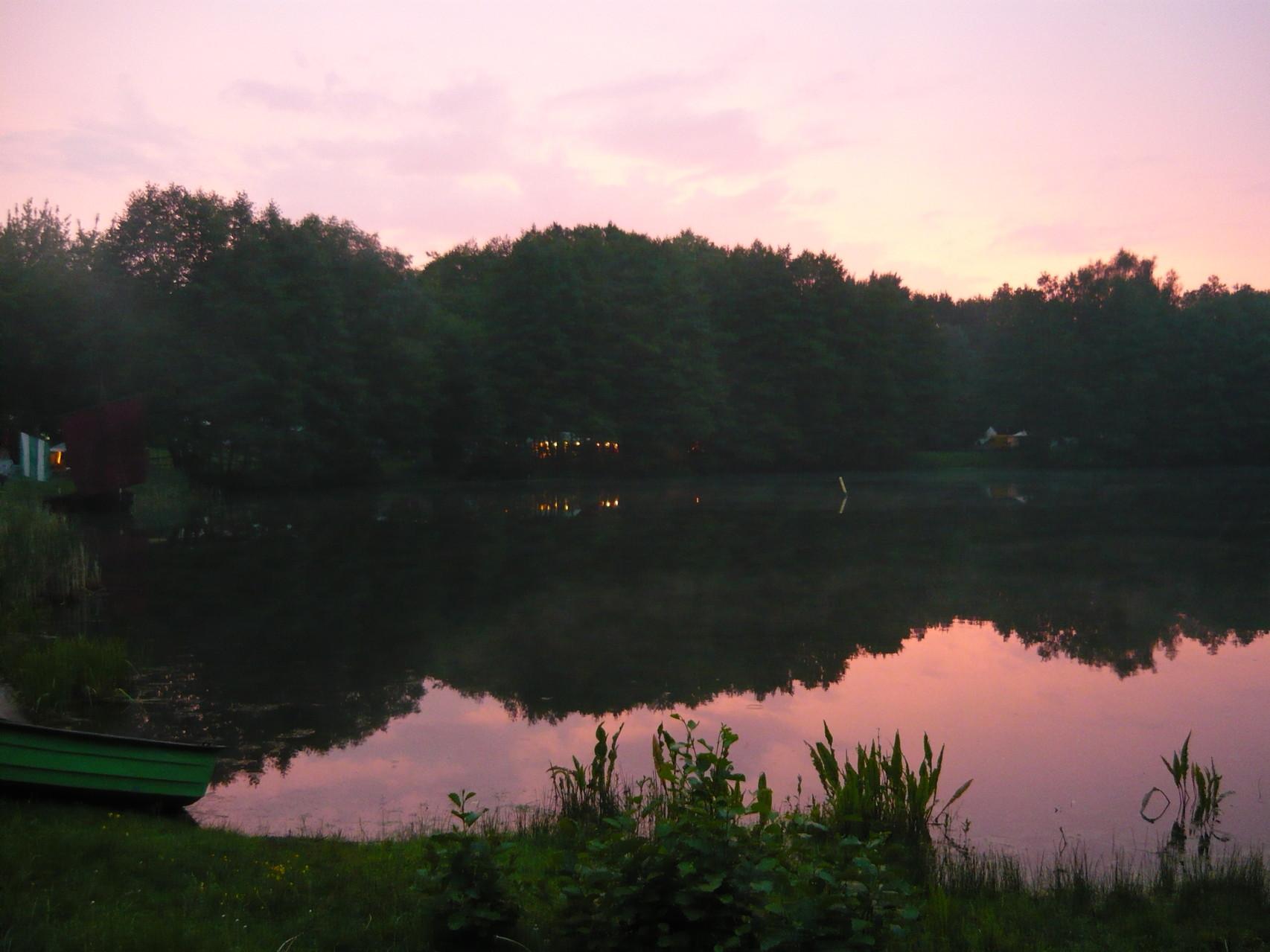 Sonnenuntergang Kiesse Schildow 2014