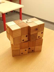 木製フック CUBE