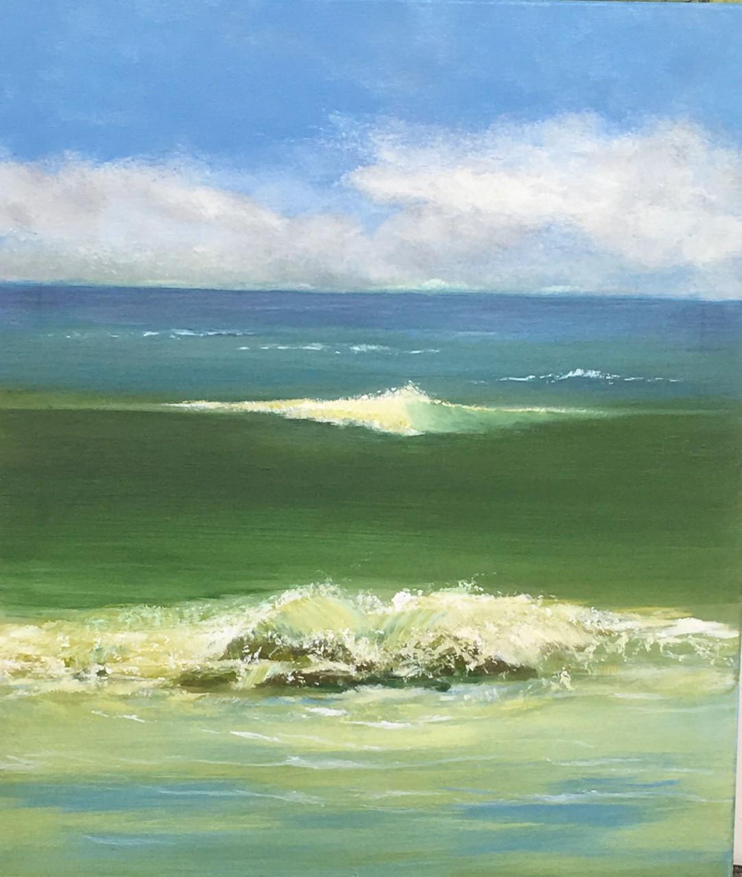 seaside No 5   60 x 70 cm   Acryl auf Leinwand for sale