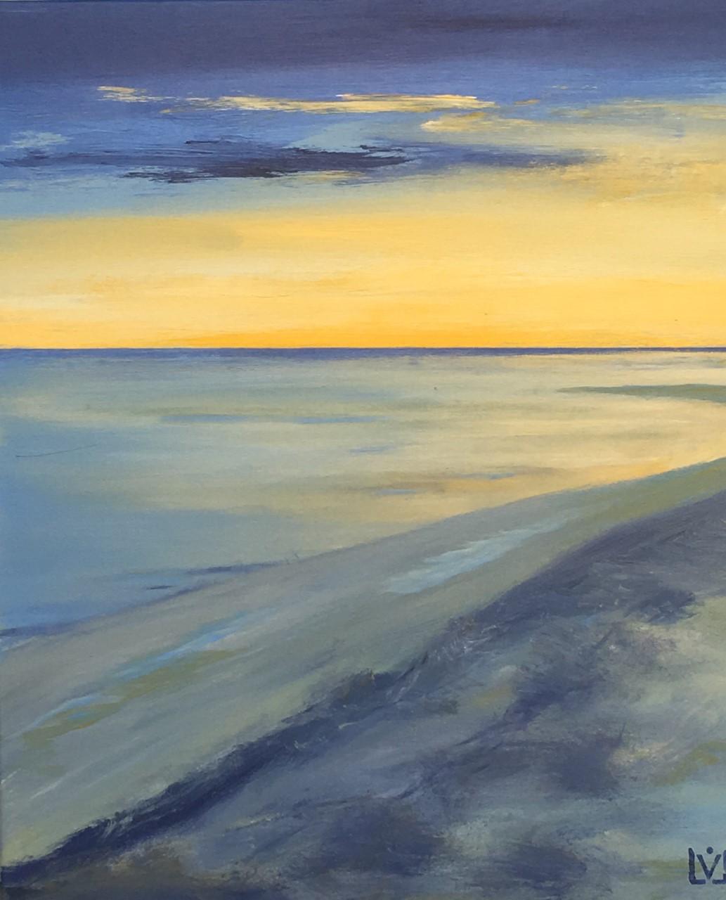 seaside No 3   70 x 60 cm   Acryl auf Leinwand for sale