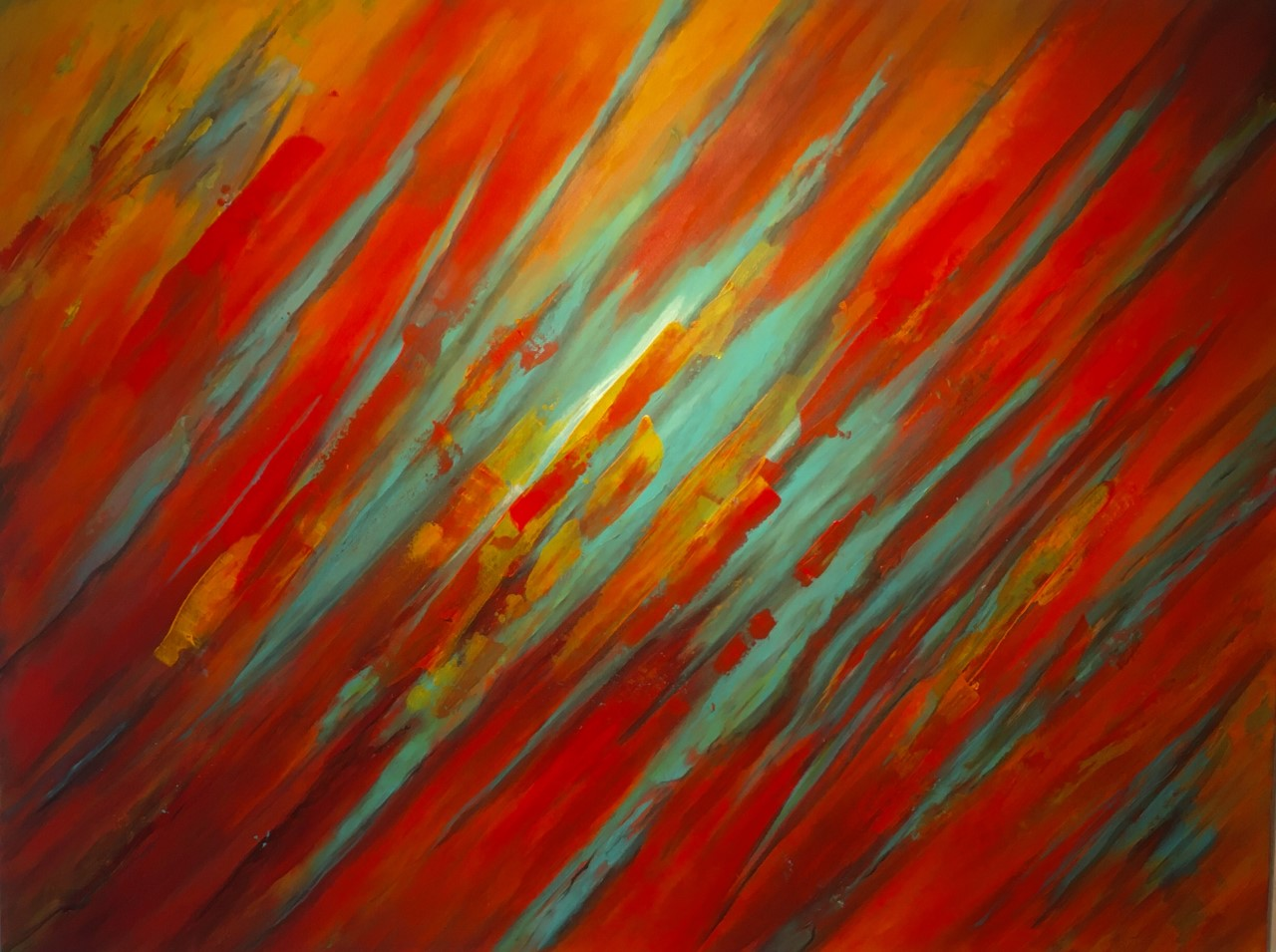 fire and ice 120 x 160 Acryl auf Leinwand im Besitz von Familie Jonske, Georgsmarienhütte