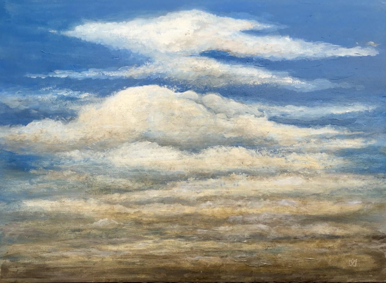 Skies all in - Hommage an J. C. ca. 60 x 80 cm Acryl auf Holz im Besitz von Dr. med. Kay Hinrichsen, Wahlstorf