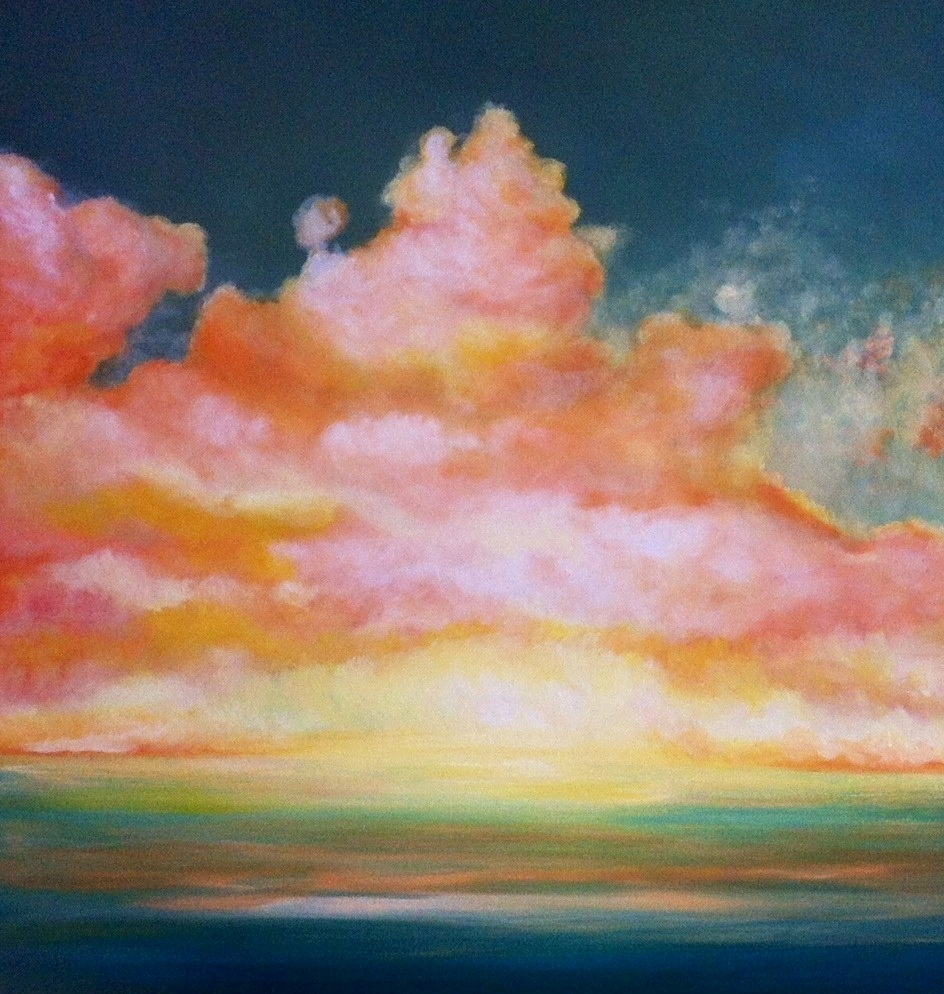 Cumulus 80 x 80cm im Besitz von Nancy Hanisch