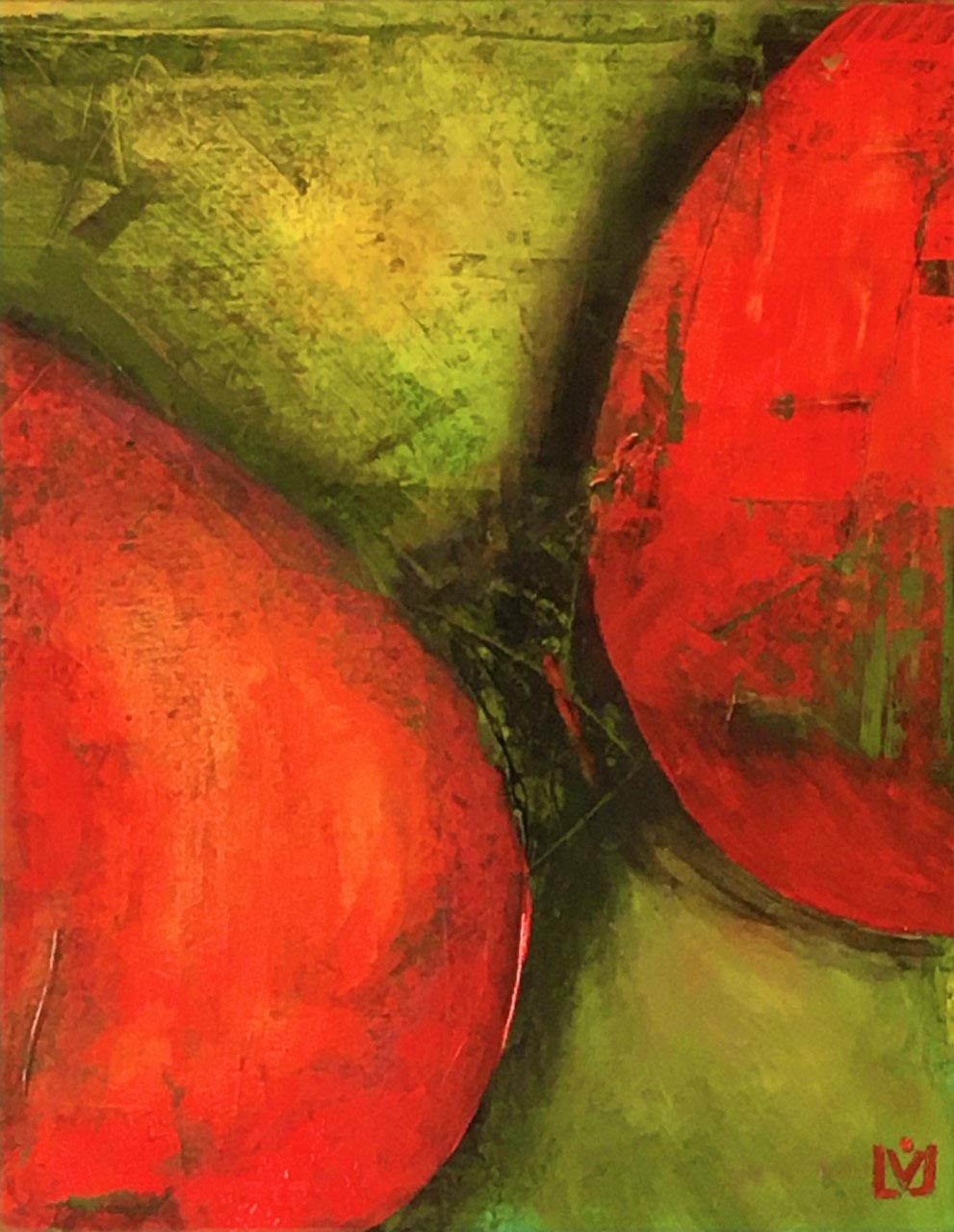 tom, tom, tomatenbaum 60 x 50 cm Acryl auf Leinwand im Besitz von Frauke Wolf