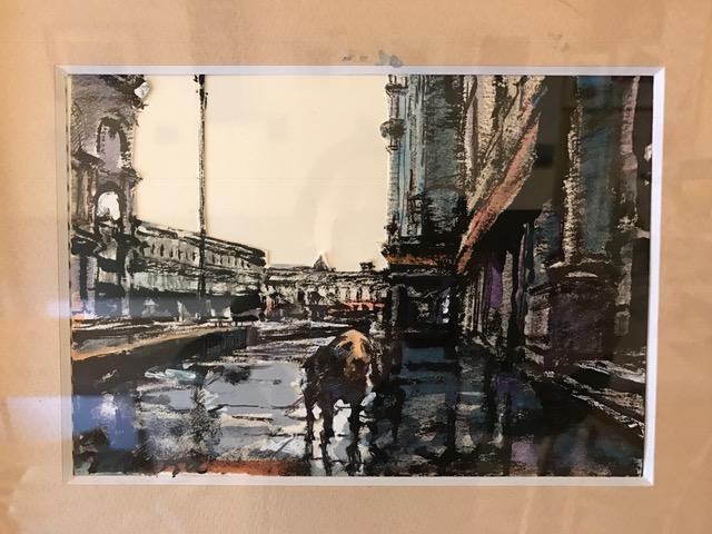 サン・マルコ広場 雨中の犬