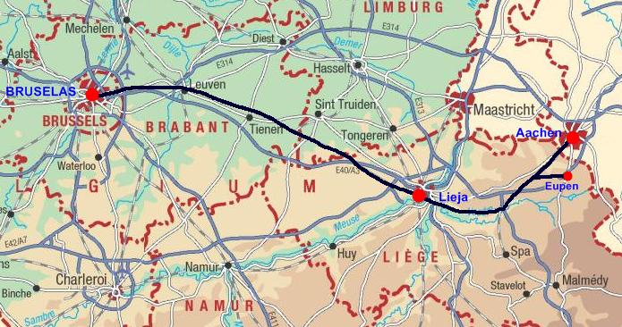 viajar en tren a bruselas: