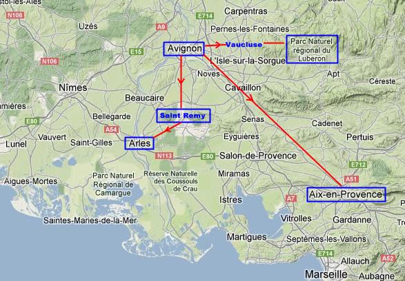 Ruta por la provenza viajar en tren por europa - Casas en la provenza ...