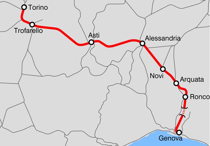 Línea ferroviaria Turín-Genova